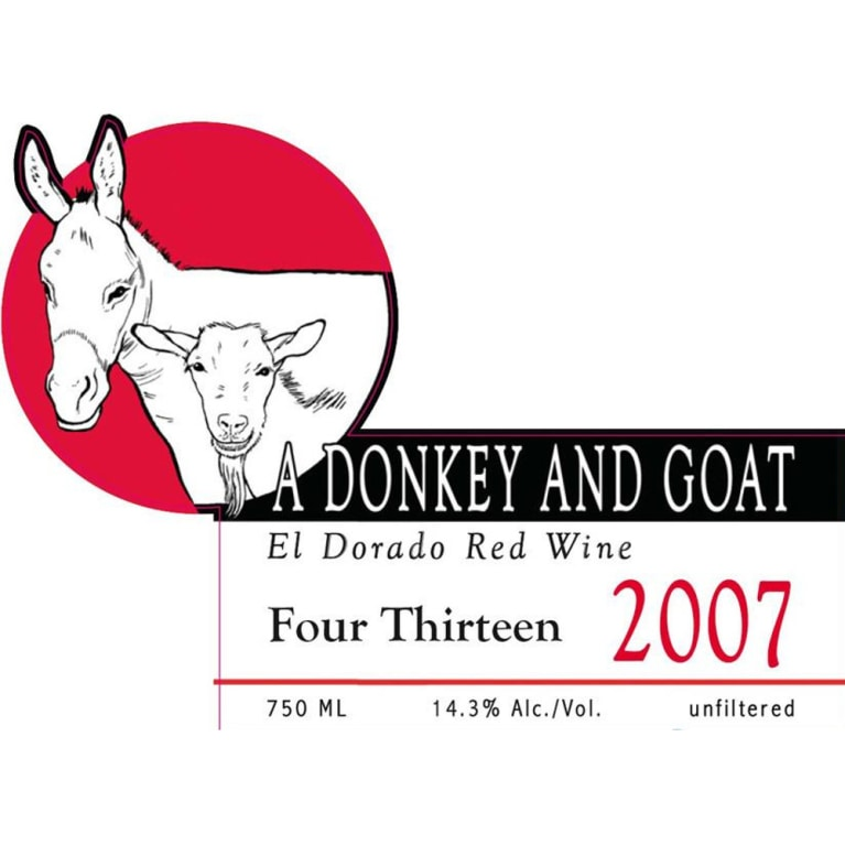 Donkey & Goat  Four Thirteen 2007 Front Label