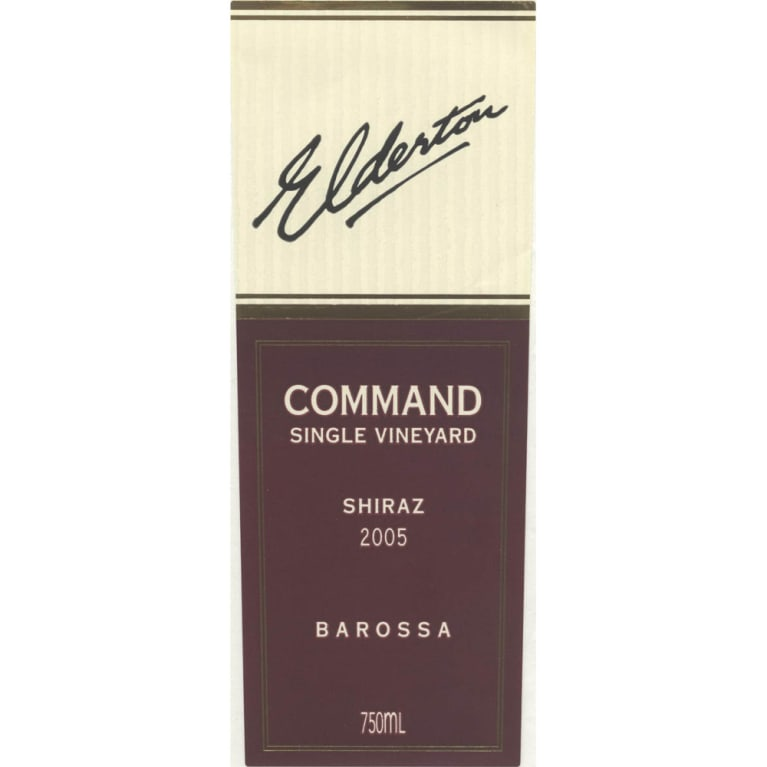 Elderton Command Shiraz 2005 Front Label