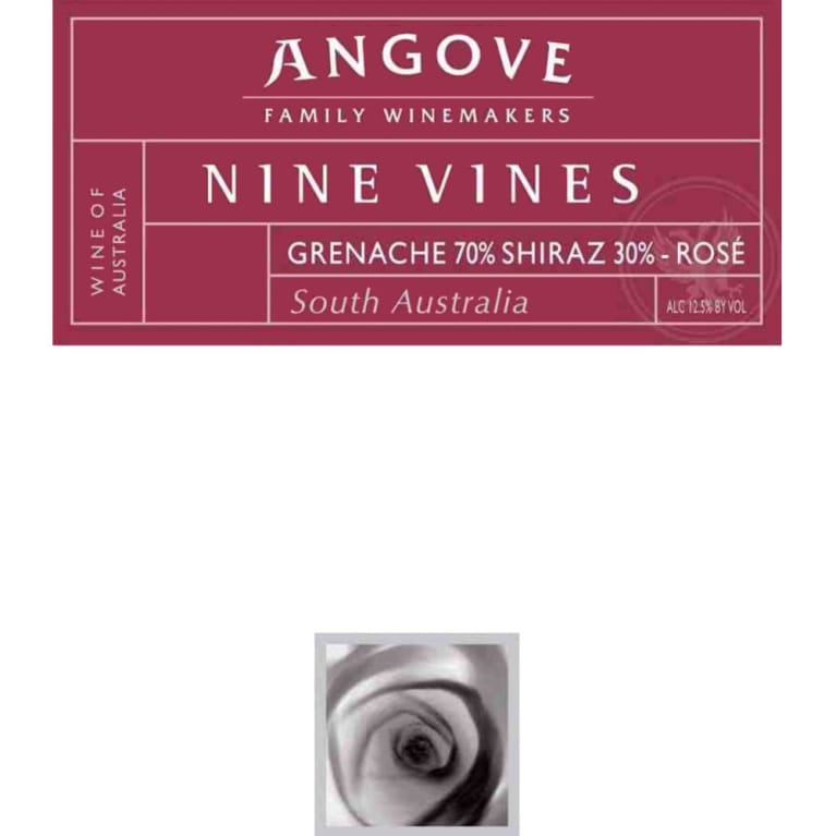 Angove Family Winemakers Nine Vines Rose 2008 Front Label