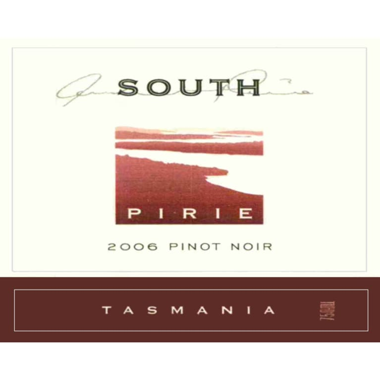 Pirie Tasmania South Pinot Noir 2006 Front Label