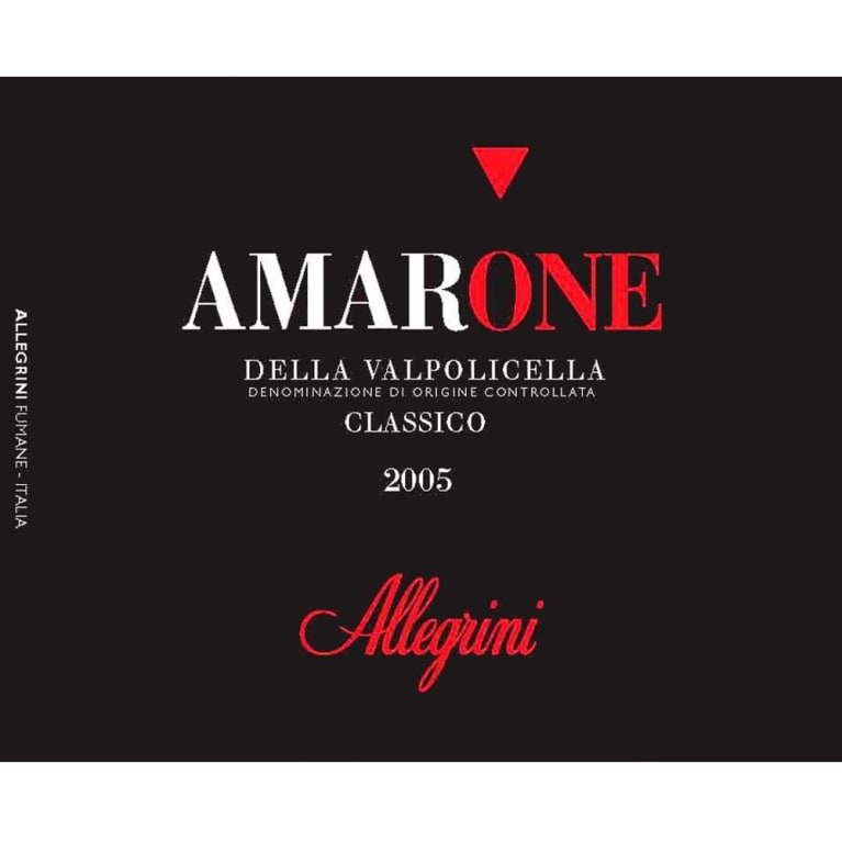 Allegrini Amarone 2005 Front Label
