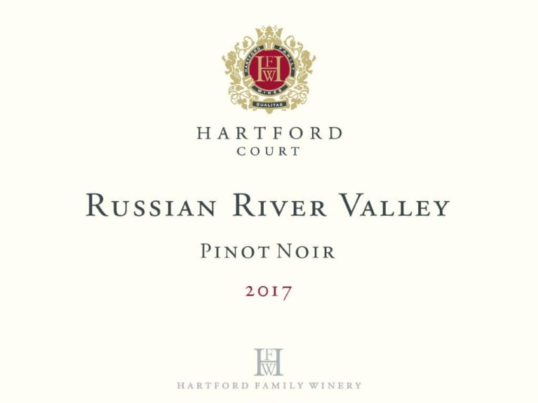 Hartford Court Russian River Pinot Noir 2017  Front Label