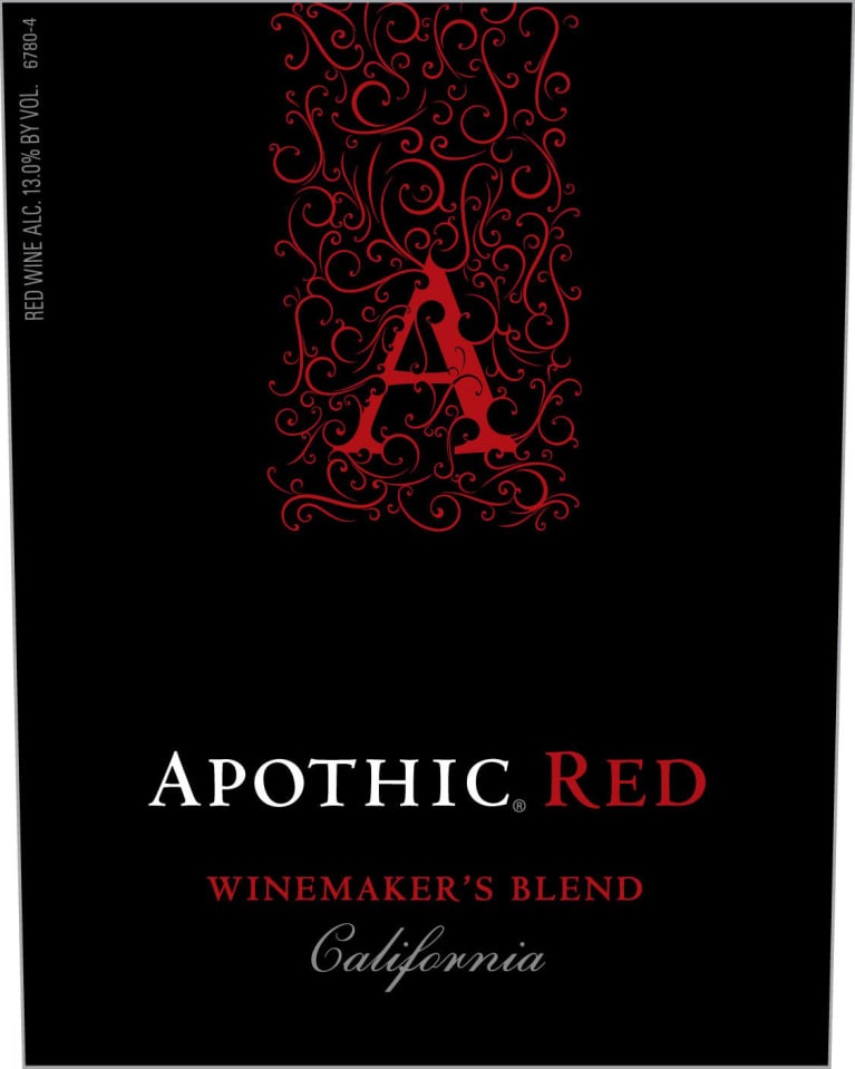 Apothic Red Blend 2018  Front Label