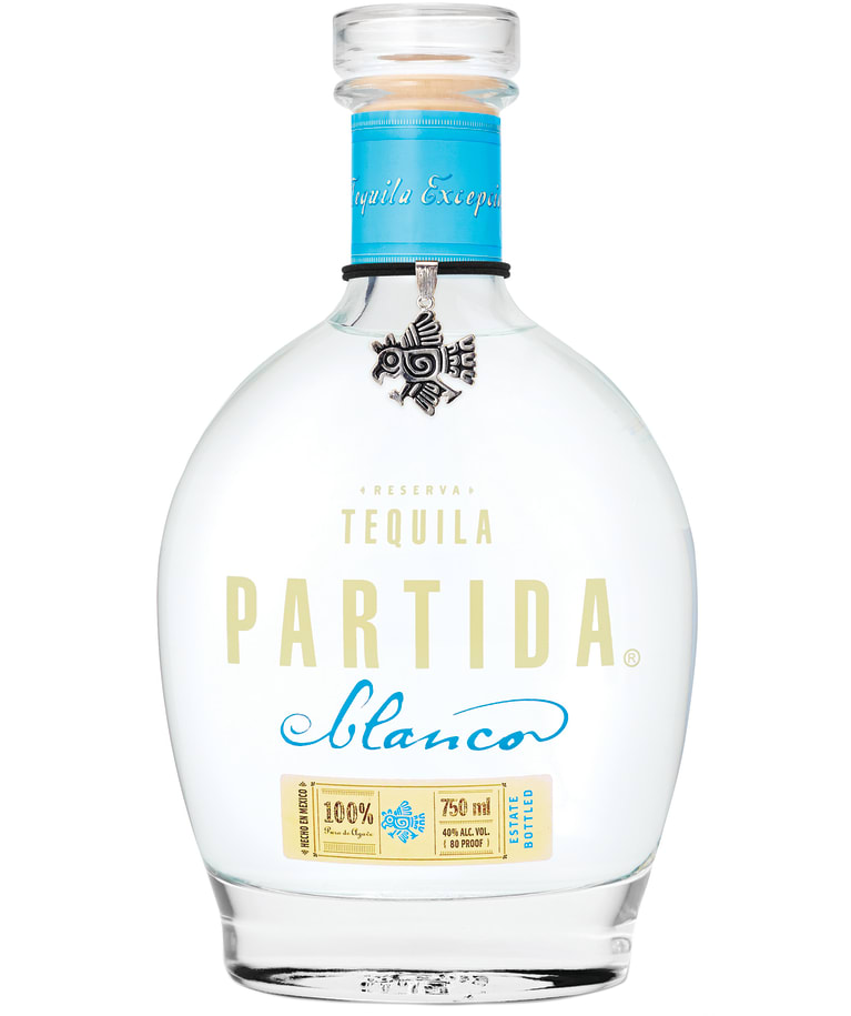 Partida Blanco Tequila  Front Bottle Shot