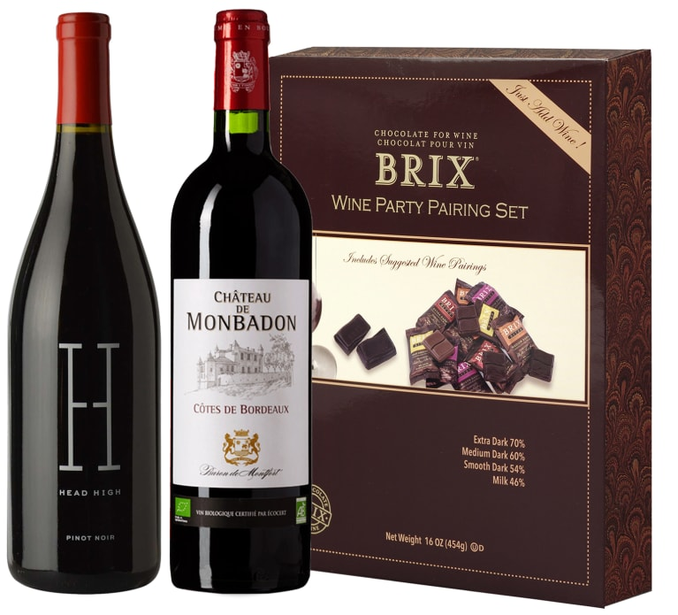 wine.com 90+ Point Red Wine & BRIX Chocolate Tasting Set  Gift Product Image