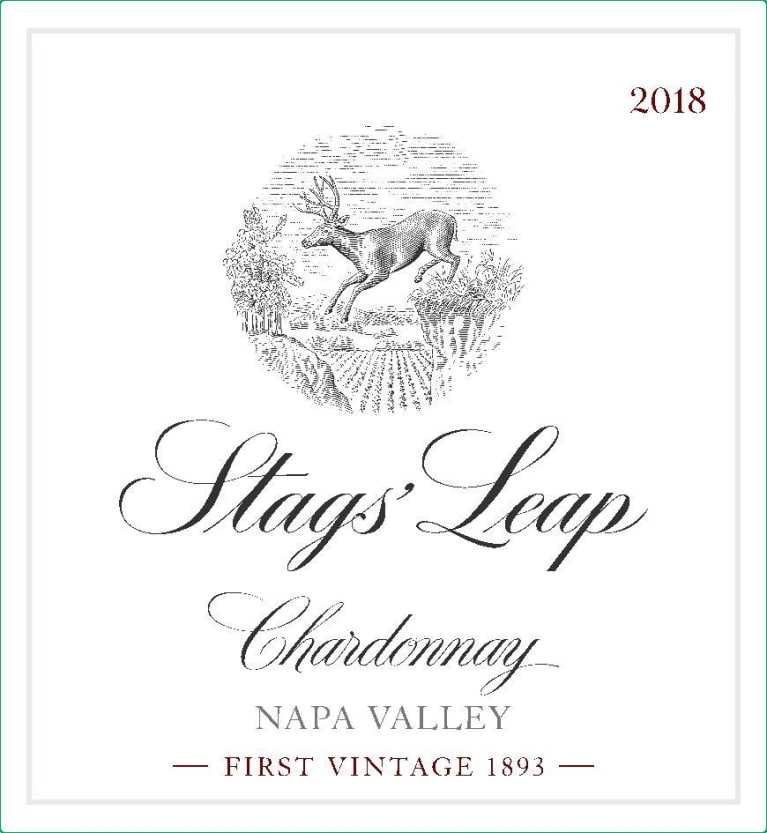 Stags' Leap Winery Napa Valley Chardonnay 2018 Front Label