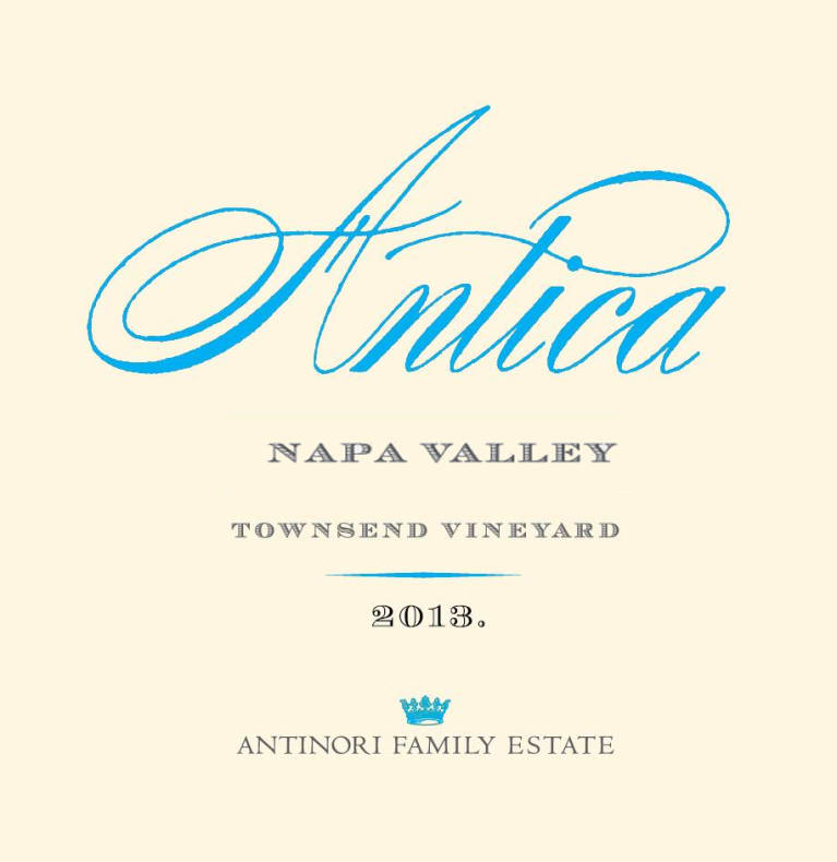 Antica Townsend Vineyard Cabernet Sauvignon 2013 Front Label