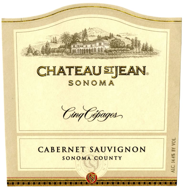 Chateau St. Jean Cinq Cepages 1998  Front Label