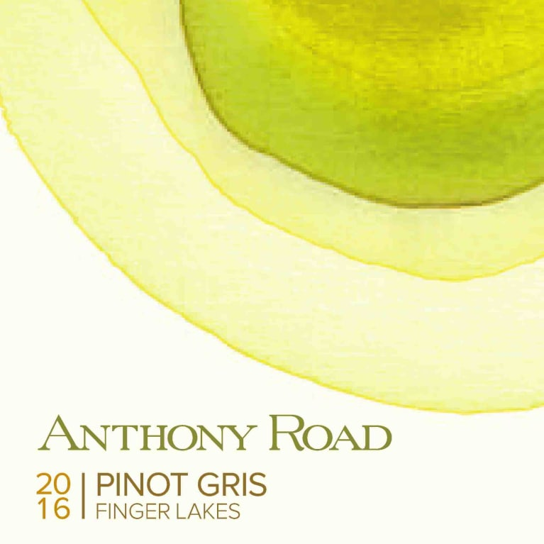 Anthony Road Pinot Gris 2016 Front Label