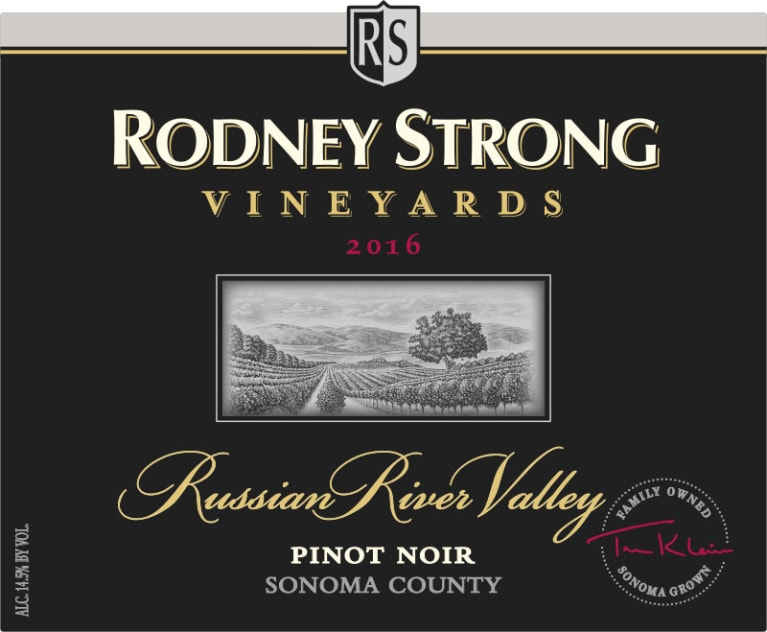 Rodney Strong Russian River Pinot Noir 2016 Front Label