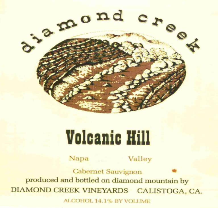 Diamond Creek Volcanic Hill Cabernet Sauvignon 2016  Front Label