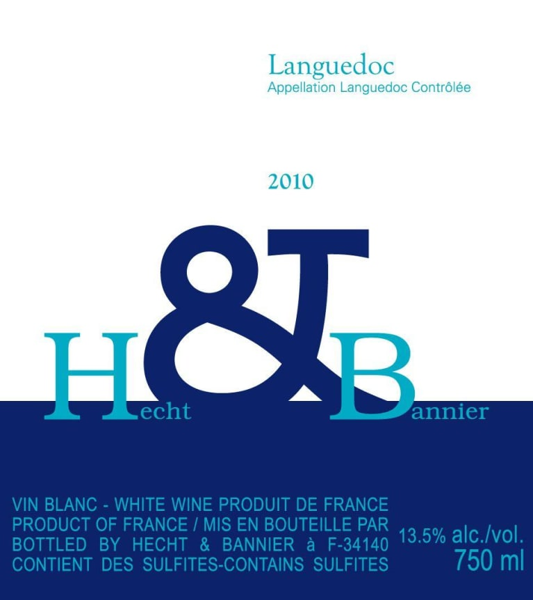 Hecht & Bannier Languedoc Blanc 2010  Front Label