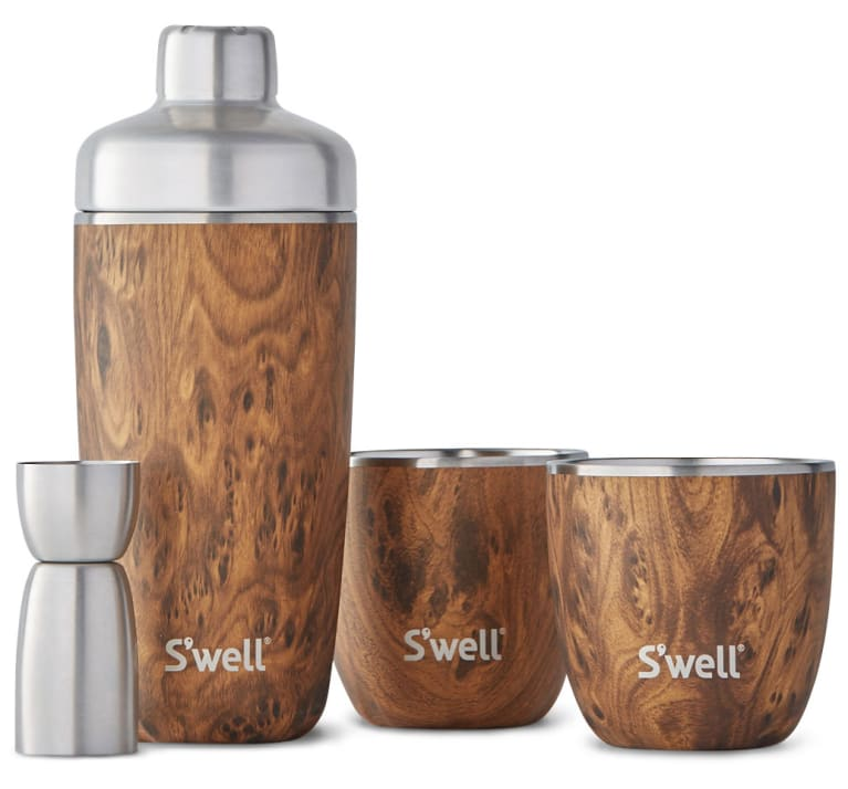 wine.com Teakwood Cocktail Kit by S'well  Gift Product Image