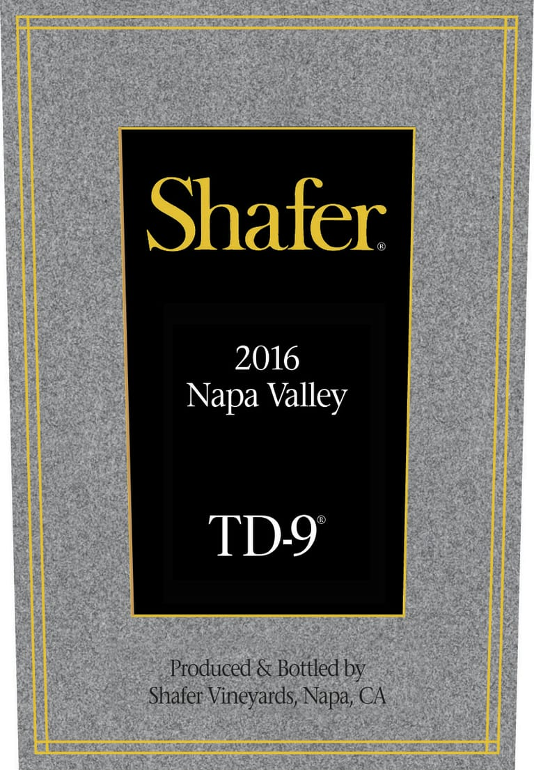 Shafer TD-9 2016  Front Label