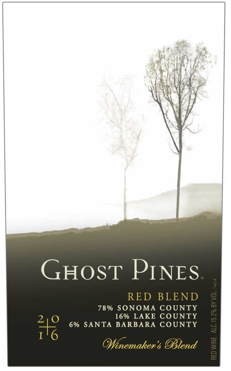 Ghost Pines Red Blend 2016  Front Label