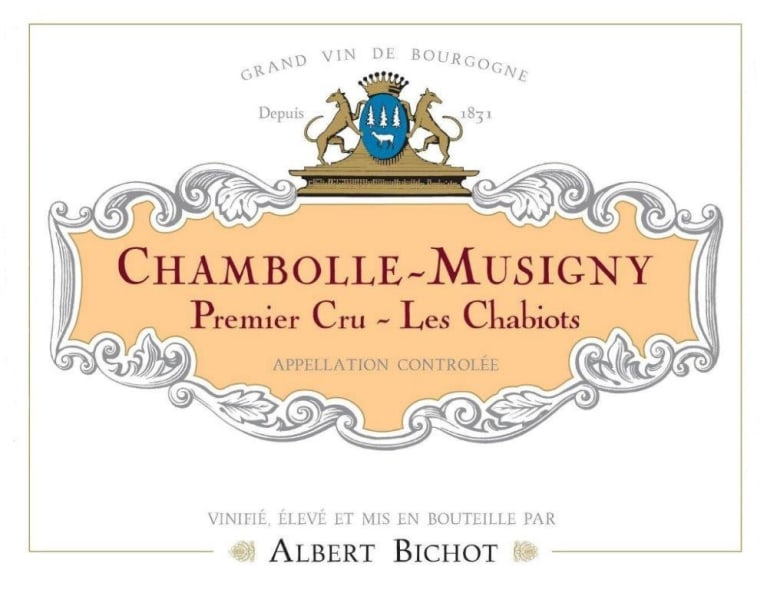 Albert Bichot Chambolle-Musigny Les Chabiots Premier Cru 2017  Front Label