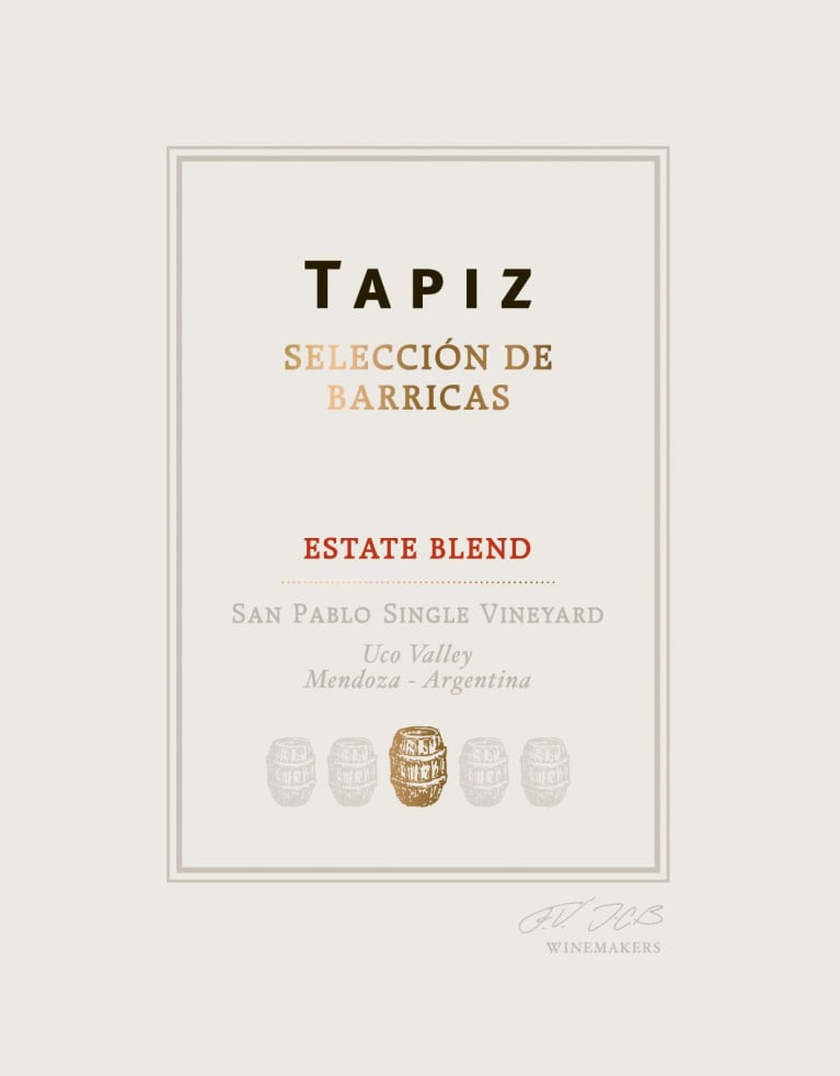 Tapiz Seleccion de Barricas Red 2012 Front Label