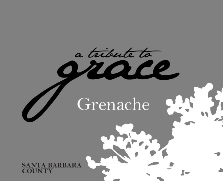 A Tribute to Grace Santa Barbara County Grenache 2017 Front Label