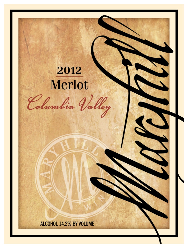 Maryhill Merlot 2012 Front Label