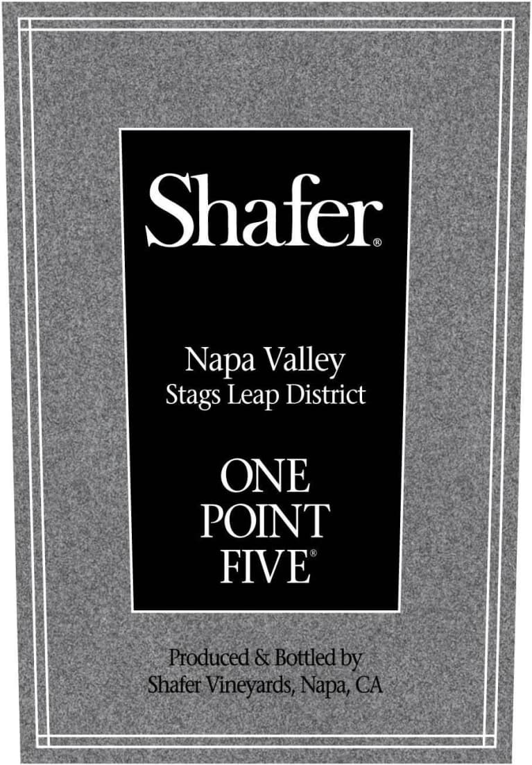 Shafer One Point Five Cabernet Sauvignon (375ML Half-bottle) 2015 Front Label
