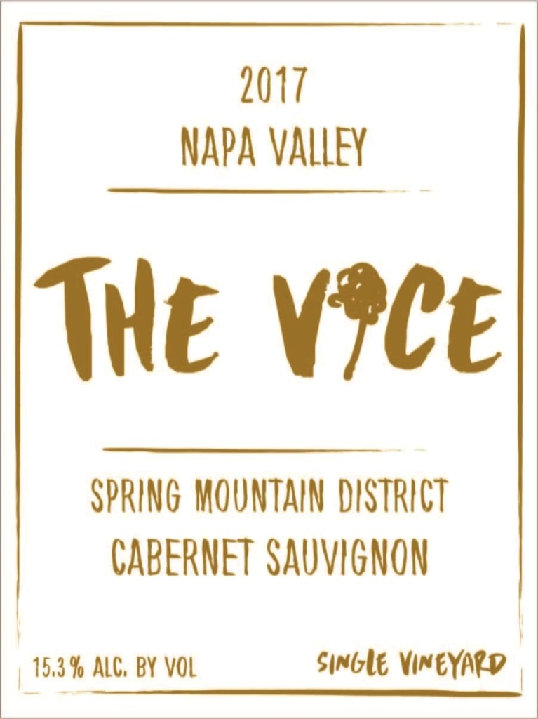 The Vice Spring Mountain Cabernet Sauvignon 2017  Front Label