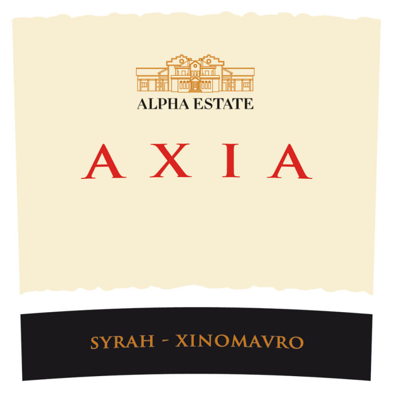 Alpha Estate Axia Red 2016  Front Label