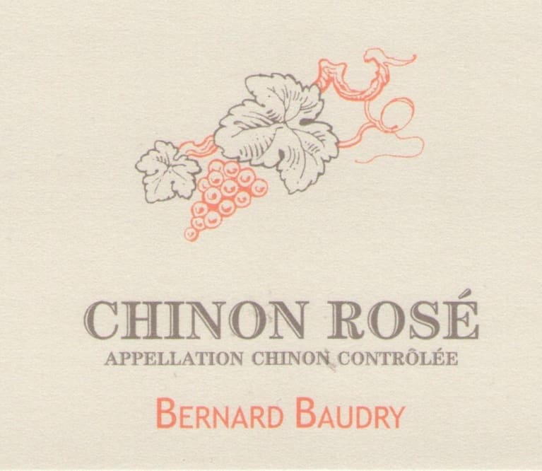 Bernard Baudry Chinon Rose 2018  Front Label