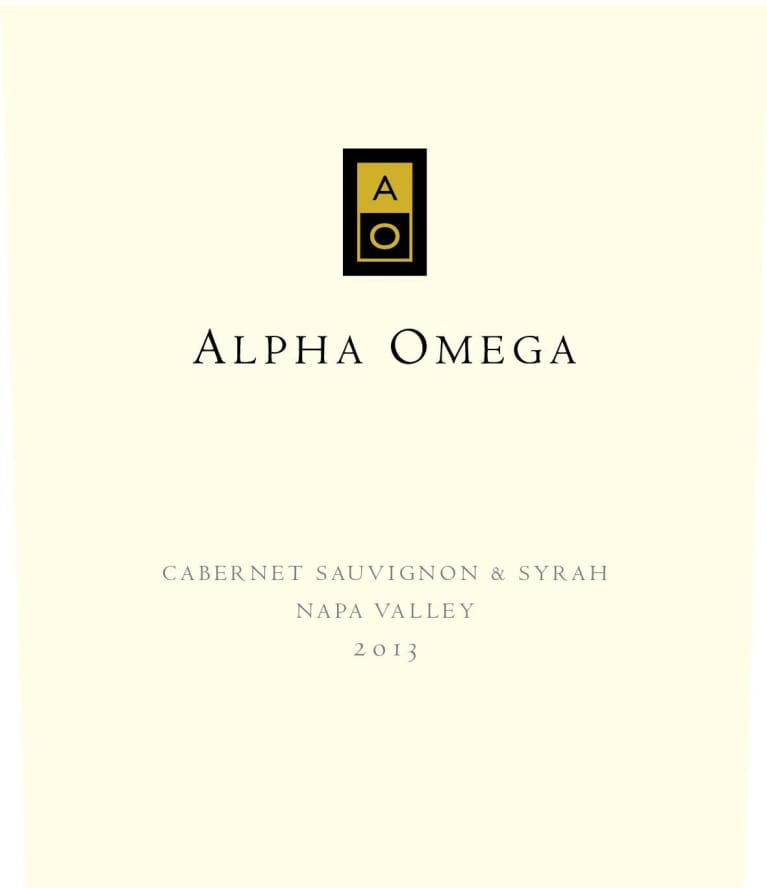 Alpha Omega Cabernet Sauvignon and Syrah  2013  Front Label