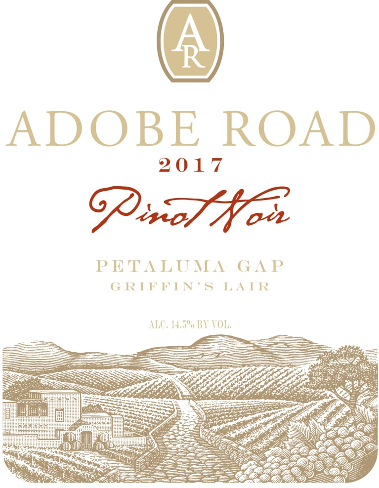Adobe Road Griffin's Lair Vineyard Pinot Noir 2017  Front Label