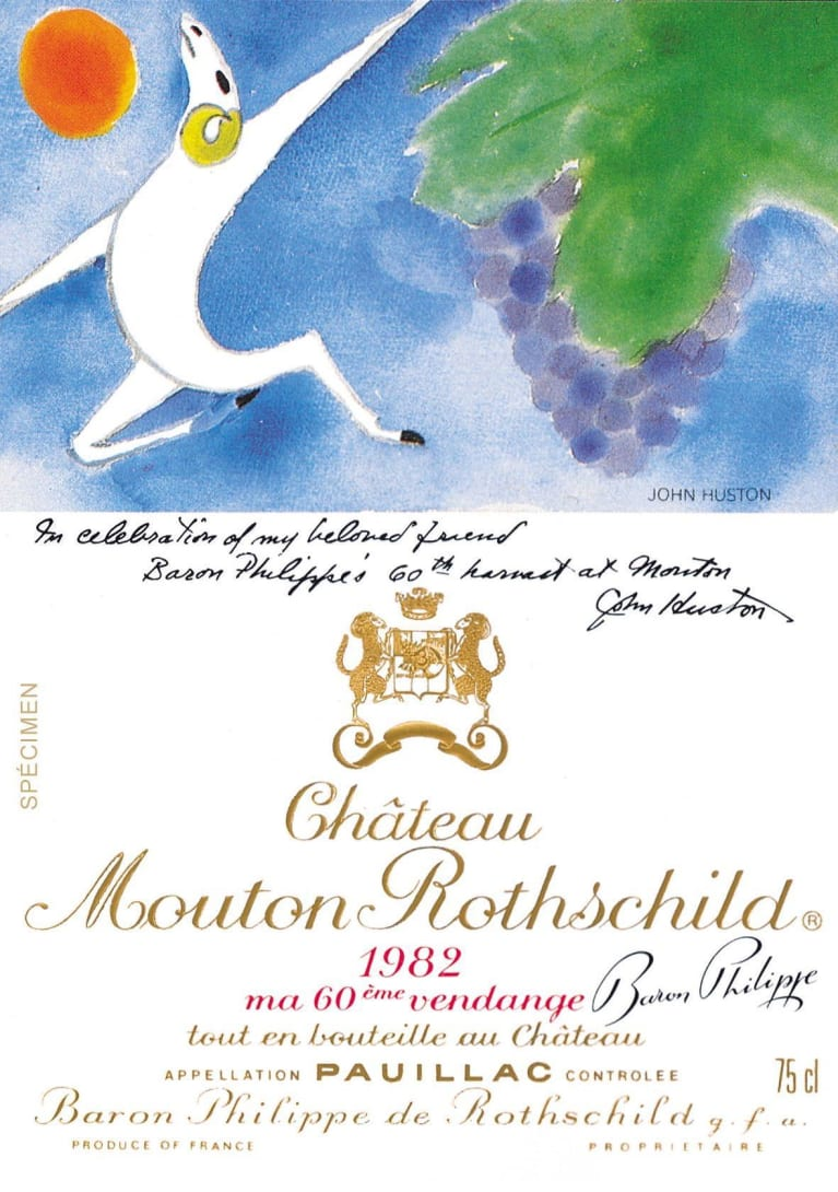 Chateau Mouton Rothschild  1982  Front Label