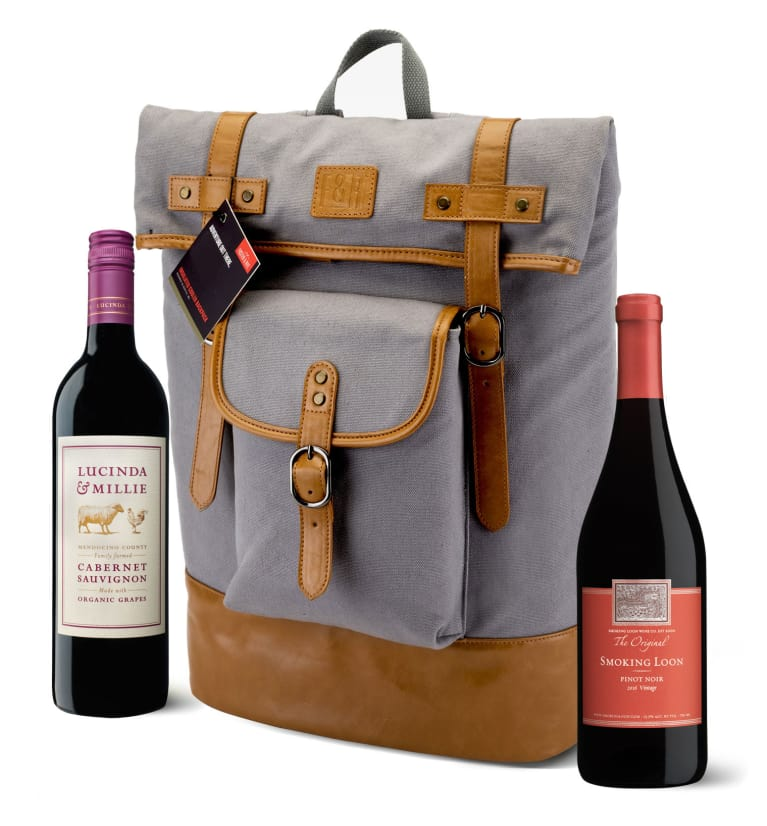 wine.com Foster & Rye Insulated Wine Backpack (Wines Included)  Gift Product Image
