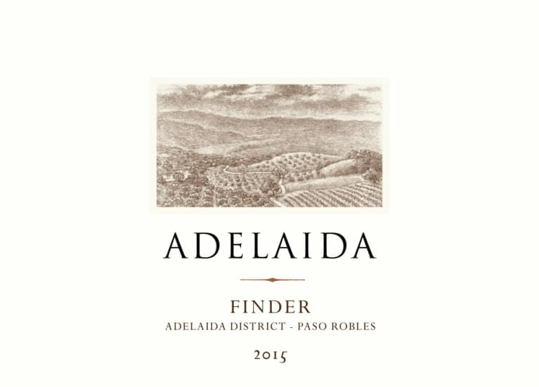 Adelaida Finder White 2015 Front Label