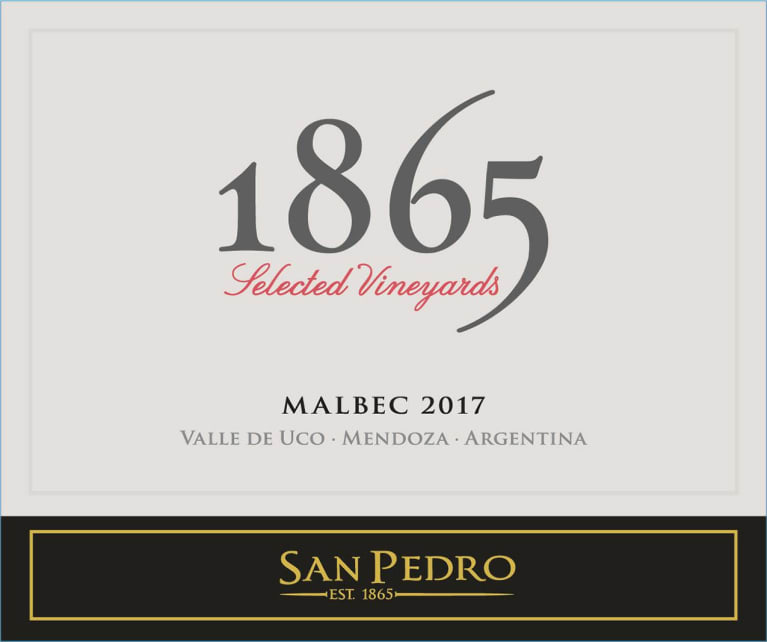 1865 Selected Vineyard Malbec 2017  Front Label