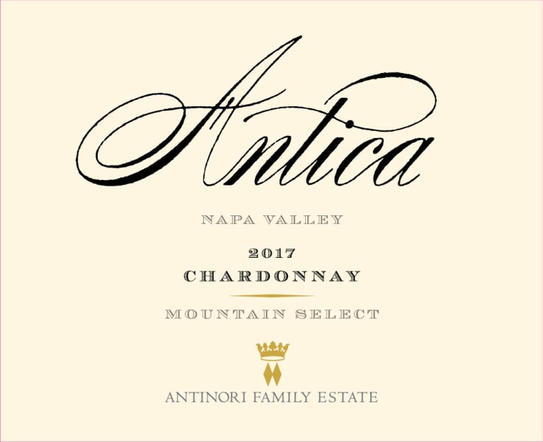 Antica Chardonnay (Mountain Select) 2017  Front Label