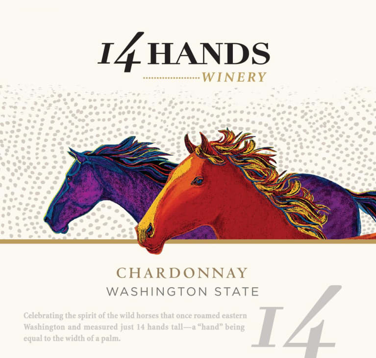 14 Hands Chardonnay 2017 Front Label