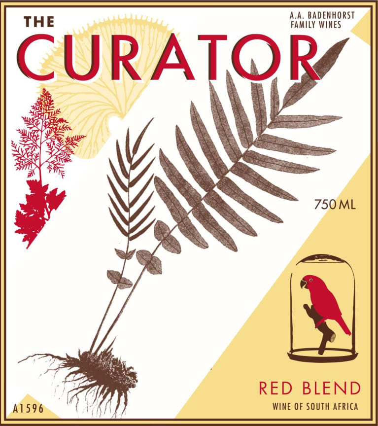 Badenhorst Curator Red Blend 2018  Front Label