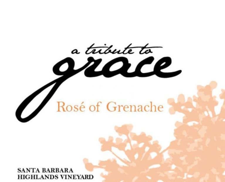 A Tribute to Grace Santa Barbara Highlands Vineyard Rose of Grenache 2020  Front Label