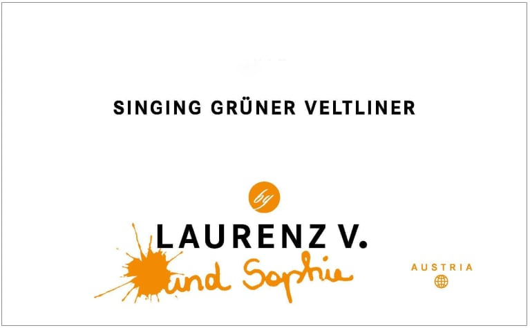Laurenz V Singing Gruner Veltliner 2017  Front Label