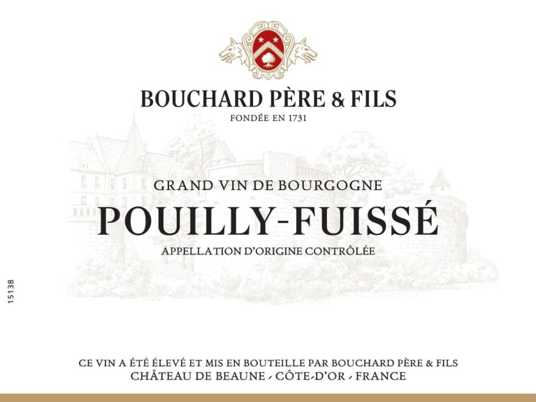 Bouchard Pere & Fils Pouilly-Fuisse 2016 Front Label