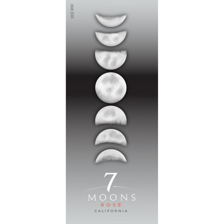 7 Moons Rose 2018  Front Label