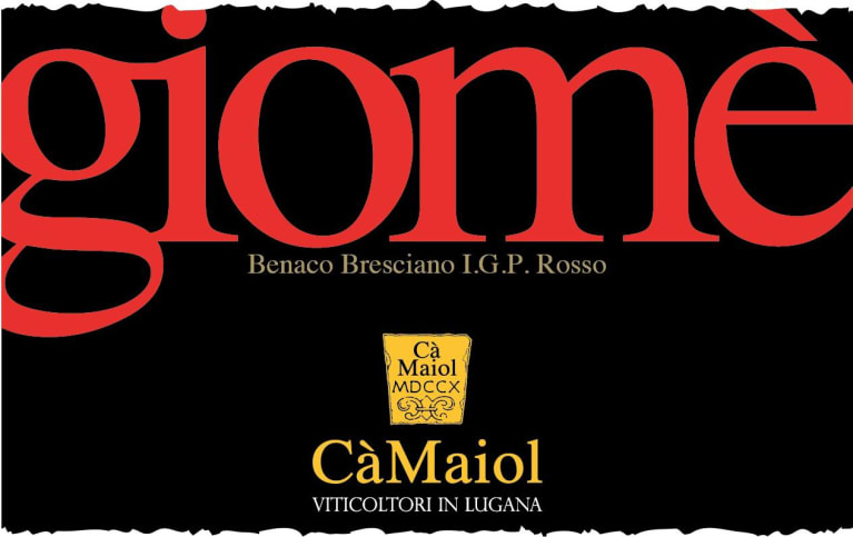 Ca Maiol Giome 2018  Front Label