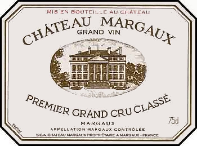 Chateau Margaux  1986  Front Label