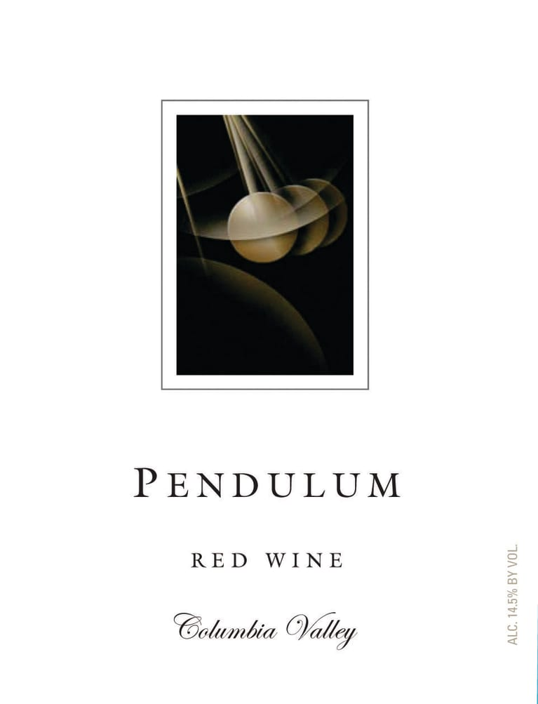 Pendulum Red Blend 2018  Front Label