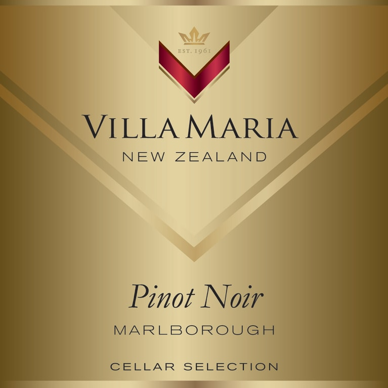 Villa Maria Cellar Selection Pinot Noir 2014  Front Label