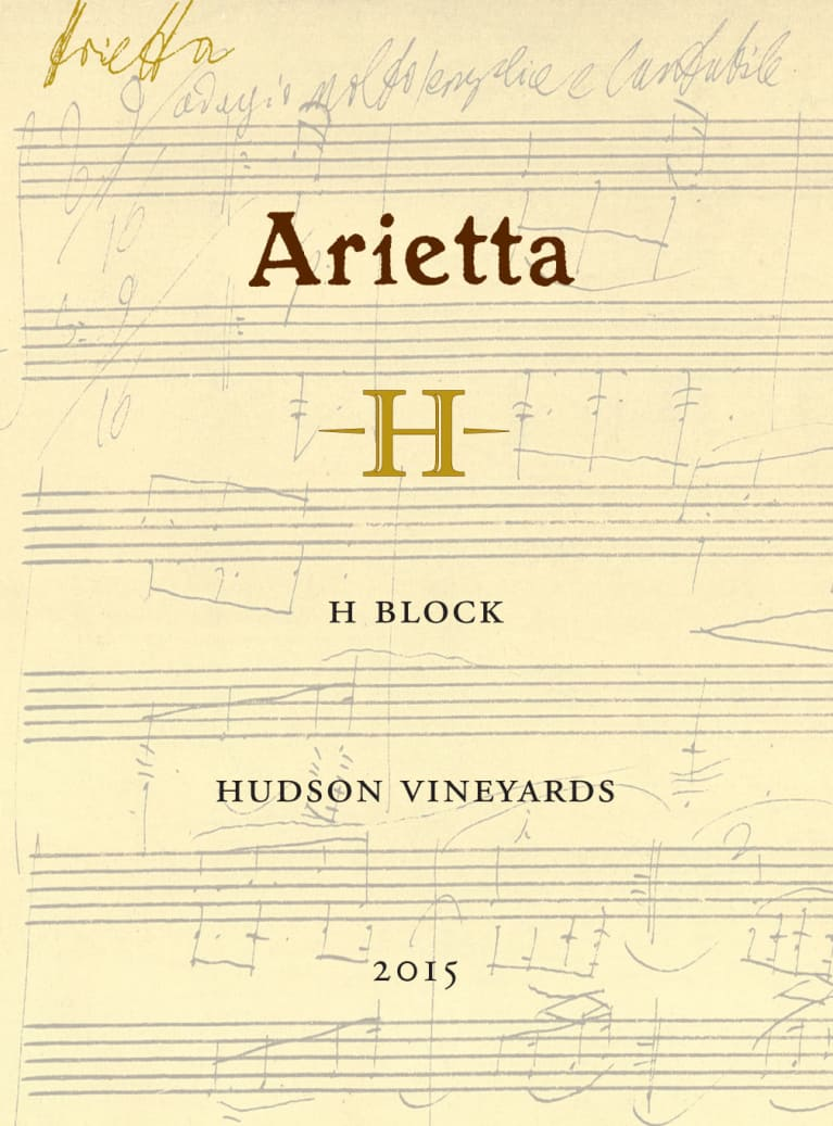 Arietta H Block Hudson Vineyards Red Blend 2015 Front Label