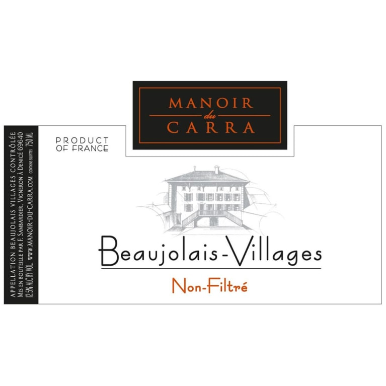 Manoir du Carra Beaujolais Villages 2017  Front Label