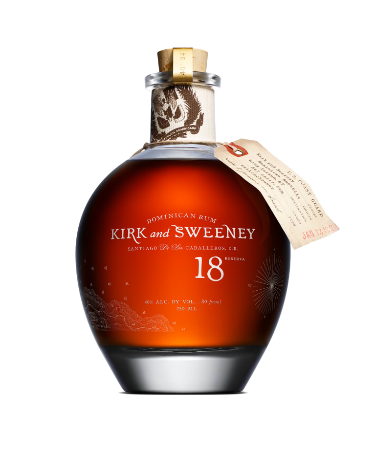 Kirk and Sweeney 18 Year Dominican Rum  Front Bottle Shot