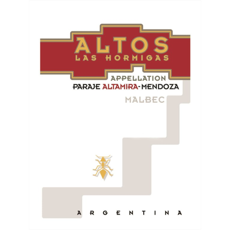 Altos las Hormigas Appellation Paraje Altamira Malbec 2017  Front Label