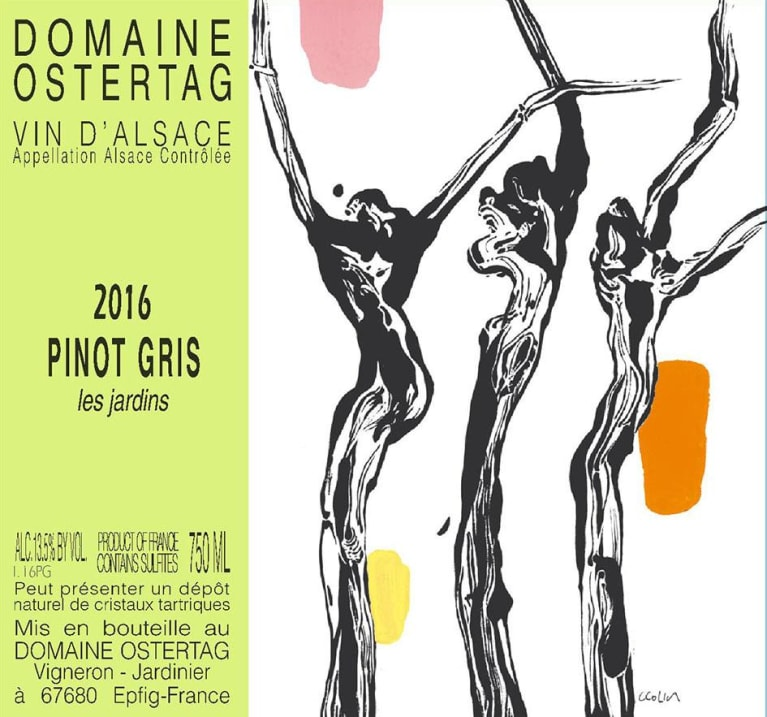 Ostertag Les Jardins Pinot Gris 2016 Front Label