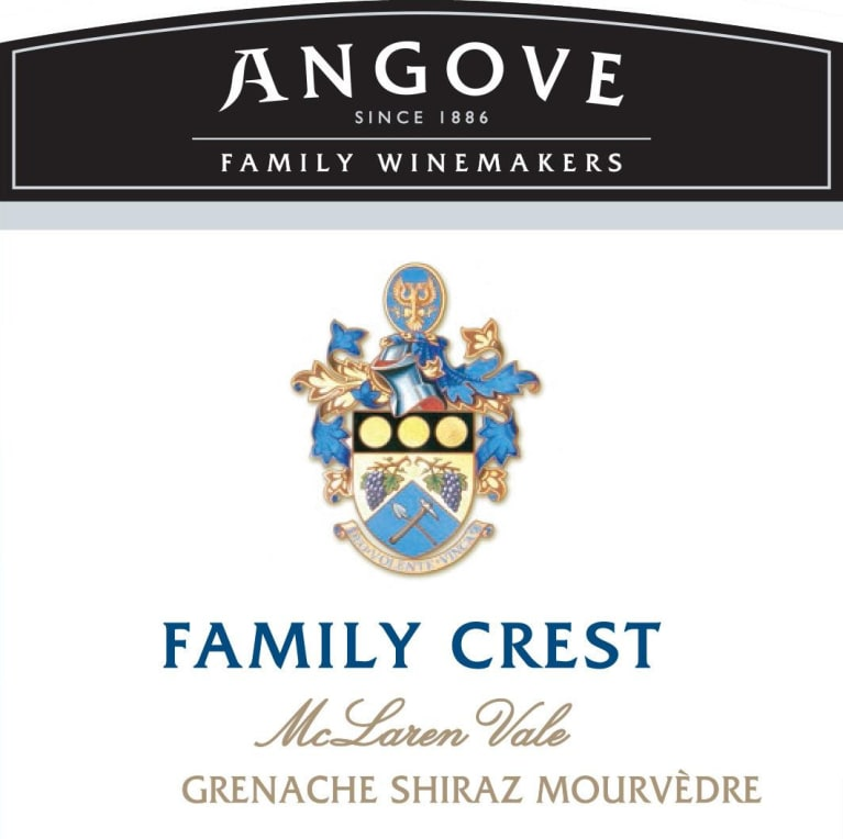 Angove Family Winemakers Family Crest Grenache Shiraz Mourvedre 2016  Front Label